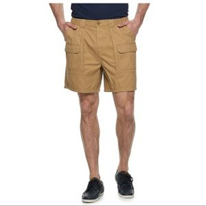 Croft and Barrow Tan Twill cargo shorts 54